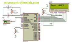 digital thermometer using temperature sensor and microcontroller, circuit diagram and code for based temperature measurement Arduino Projects, Electronics Projects, Pic Microcontroller, Tech Updates, Circuit Diagram, Digital Thermometer, Facebook Sign Up, Coding, Technology
