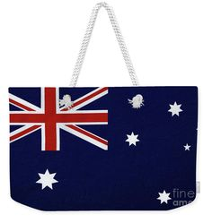 Photography Weekender Tote Bag featuring the photograph Australian Flag Textured By Kaye Menner by Kaye Menner Australian Flags, Weekender Tote, Cotton Rope, Staycation, Weekend Getaways, Bag Sale, Tote Bags, Kids Rugs, Texture