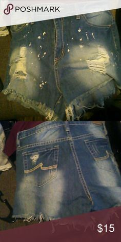 High waisted shorts Super cute, bought wrong size! YMI Shorts Jean Shorts
