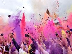 At the end of the Brighton Colour Run - picture by Neil Purrett. Find him on Twitter here: @guildforddec