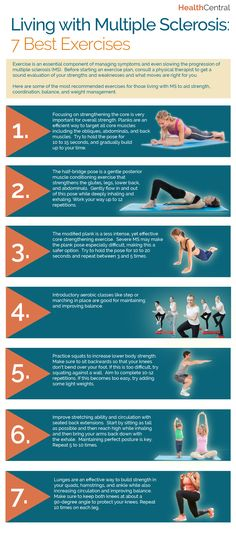 7 Best Exercises for Living Better with Multiple Sclerosis (INFOGRAPHIC) - Multiple Sclerosis