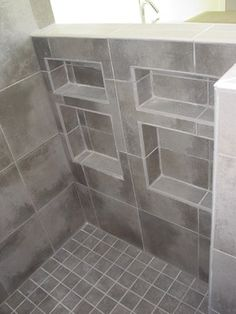 Recessed Shower Niche Design Ideas, Pictures, Remodel, and Decor