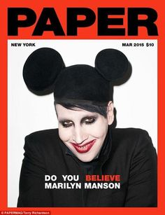 Marilyn Manson Poses With Father (In Full Makeup) For Paper Magazine Cover Marilyn Manson, Nicki Minaj, Paper Magazine Cover, Magazine Covers, Magazine Art, Brian Warner, Mickey Mouse Photos, Grammy Nominees, Full Makeup