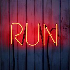 RUN Red neon sign www.signolism.com