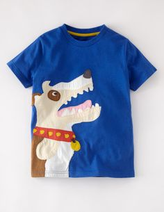 Big Appliqué T-shirt 21697 Logo T-Shirts at Boden