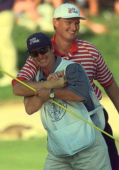 Ernie Els and Ricci Roberts, 1997 U.S. Open  Phuket Golf Leisure Co., Ltd. Your Golf in Phuket experts.