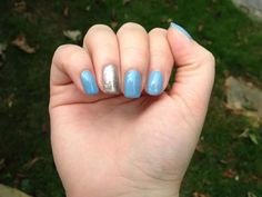 Blue and silver nails :)