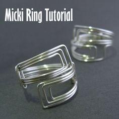 Tutorial  Micki Ring Easy by DianneKargBaron on Etsy
