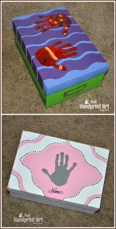 DIY Keepsake Memory Boxes using FrogTape Shape Tape #shapetape #ad