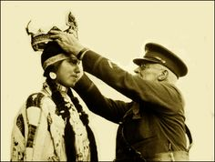 Colville girl named Jessie Jim is crowned Princess America, National Indian Congress, Spokane, Washington, 1926.