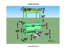 Candy Cart Plans | Pinterest + #Laduree + #Creative idea + #Recycles + #SketchUp + # ...