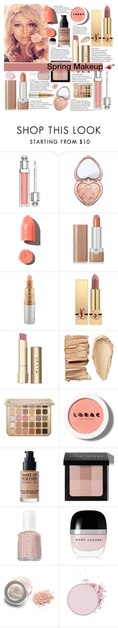 """Spring makeup"" by marias1808 ❤ liked on Polyvore featuring beauty, Christian Dior, Too Faced Cosmetics, PUR, Marc Jacobs, Mariah Carey, Yves Saint Laurent, Stila, LORAC and MAKE UP FOR EVER"