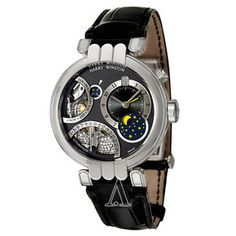 Harry Winston Men's Premier Excenter Perpetual Calendar Watch featuring 4 complications!