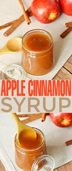 This Apple Cinnamon Syrup is fabulous poured over pancakes, waffles, cheesecakes and ice cream. It's a sweet autumn treat that is super versatile as a syrup and sauce. | Frugal Mom Eh!