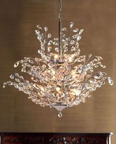 """""""Upside Down"""" Crystal Chandelier - traditional - chandeliers - Horchow"""