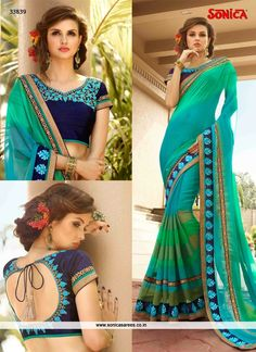 Distinctive Viscose Resham Work Designer Saree