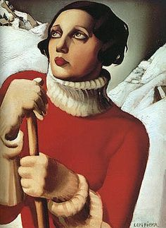 """1 of the few women with a place in art history, have always liked the harsh angles and solid colours in her work, also love how many of her paintings feature women with what I would call """"don't fuck with me"""" looks on their faces, though this is not one of those."""