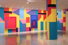 peter halley + alessandro mendini collaborate at mary boone gallery, nyc