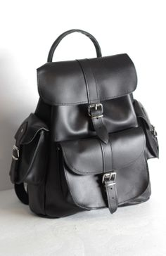 A stylish and comfortable medium sized leather rucksack.