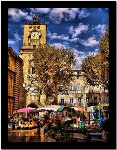 Olivier Faugeras - Aix en Provence, le marché aux ...