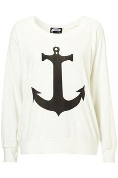 Anchor Raglan Sweater by Illustrated People** - Jersey Tops - Clothing - Topshop on Wanelo
