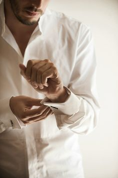 I love helping my Hubby put on his cuff links.