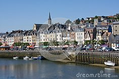 Panorama of Trouville-sur-Mer (Normandy, France). The banks of the Touquet River.