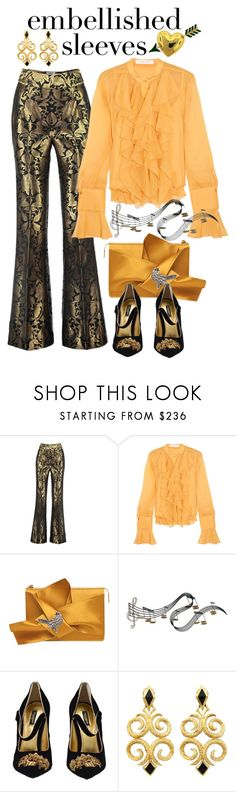 """""""Embellished Sleeves - Baroque Inspired"""" by giovanina-001 ❤ liked on Polyvore featuring Sania Studio, See by Chloé, N°21, C. Jeré, Dolce&Gabbana and Van Cleef & Arpels"""