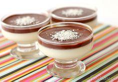 Mousse de Coco com Chocolate