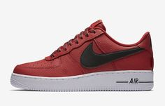 pretty nice 78860 11727 Nike Air Force 1 07 LV8   823511 604 NBA Red Black White Men SZ 7.5 13