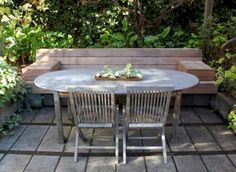 modern landscape by Tierney Conner Design Studio Built In Seating, Built In Bench, Backyard Seating, Garden Seating, Outdoor Rooms, Outdoor Dining, Outdoor Decor, Garden Shed Diy, Garden Ideas