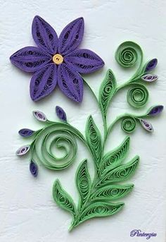 quilled flower - - My site Quilled Roses, Paper Quilling Flowers, Paper Quilling Cards, Paper Quilling Patterns, Origami And Quilling, Quilled Paper Art, Quilling Flower Designs, Neli Quilling, Quilling Jewelry