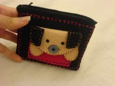 Tadaaa KAwaii Puppy Felt Pouch!!! by Chu❤, via Flickr