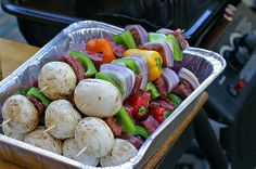 Shish kabobs in the oven