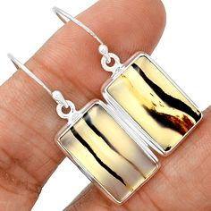 Montana Agate 925 Sterling Silver Earrings Jewelry MTAE102