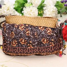 This Bohemian Beach Bag allows you to show your fashion sense and personal style. It's made durable high-quality lightweight polyester and perfect for carrying all of your items! Size: 7.8 inches Inte