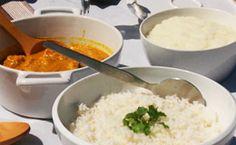 Como fazer caril de camarão e xima, receitas típicas do Moçambique.