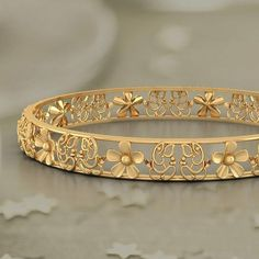 faithful ganesha floret bangle buy gold bangle online in india Gold Bangles Design, Gold Jewellery Design, Gold Jewelry, Fine Jewelry, Diamond Bracelets, Handmade Jewellery, Silver Bracelets, Quartz Jewelry, Antique Jewellery