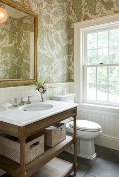 Connecticut Powder Room  Bath  American  Colonial  Farmhouse  Federal  Neoclassical  TraditionalNeoclassical  Transitional by Morrissey Saypol Interiors