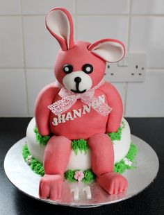 Rabbit cake based on a customers soft toy.