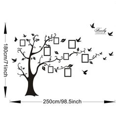Large Photo Family Tree Wall Decals Wall Art