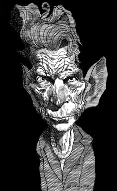 Samuel Beckett by David Levine--Caricatures by David Levine, John Springs, Pancho (Francisco Grails), and James Ferguson   The New York Review of Books