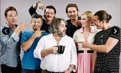 Fantastic EW portrait of The Hobbit cast. All the pointing!