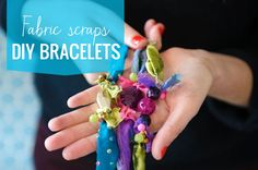 How to make colorful DIY bracelets from fabric scraps.