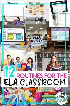 Classroom Routines, Ela Classroom, English Classroom, Future Classroom, Classroom Procedures, English Teachers, School Routines, Classroom Ideas, Secondary Activities