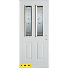 34 Inch X 80 Inch Traditional 2 Lite 2 Panel White Steel. Exterior  DoorsEntry ...