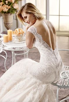 backless lace Eddy K wedding dresses