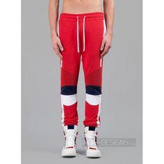 Indie Designs Balmain Inspired Biker Style Cotton Jogging Pants