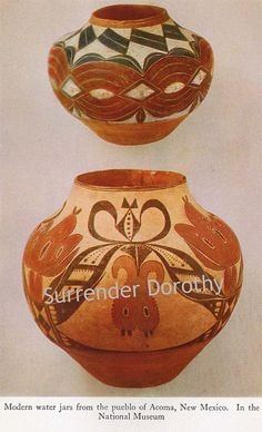 Modern Pueblo Pottery Native People Photogravure by SurrendrDorothy, via Flickr