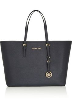Michael Kors Jet Set MK Monogram-print Large Tote Vanilla Products Description * Slate lizard-embossed cowhide with buff leather straps. * Gloden hardware. * Buckled shoulder straps; 9 1/2 drop. * Top zip. * Hanging link-chain logo charm. * 17H x 15 1/4W x 3 3/4D.